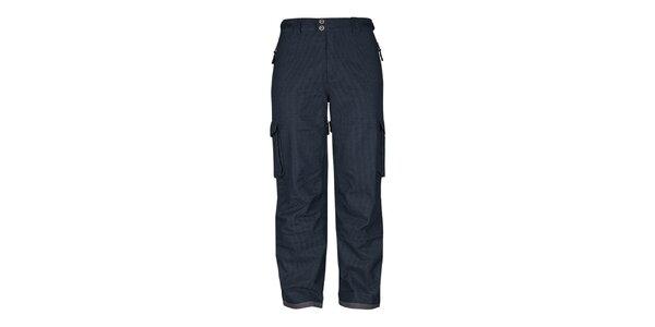 Pánské antracitové pruhované snowboardové kalhoty Husky