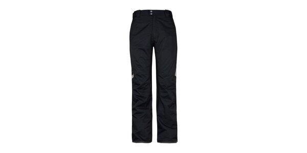 Pánské černé lyžařské kalhoty s reflexními prvky Husky