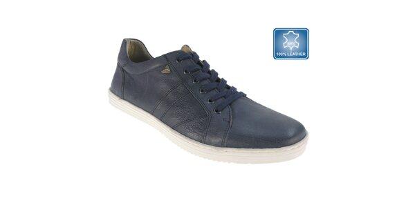 Pánské tmavě modré kožené boty Beppi