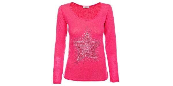 Dámský růžový svetřík Holly Kate s kamínky