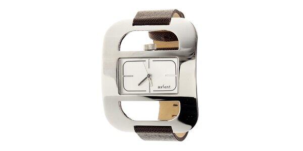 Dámské módní náramkové hodinky s koženým řemínkem