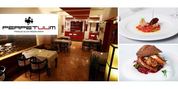 390 Kč za parádní kachní degustační menu pro dva v restauraci Perpetuum!