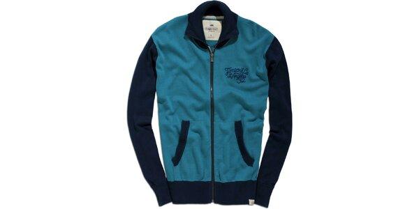 Pánský modro-tyrkysový svetr Timeout