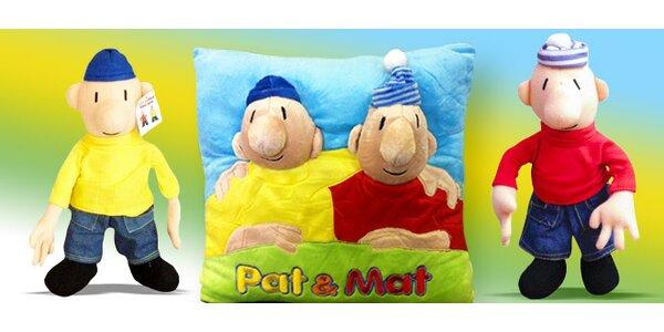 Dvojice Pat a Mat z plyše nebo malovaní na polštáři