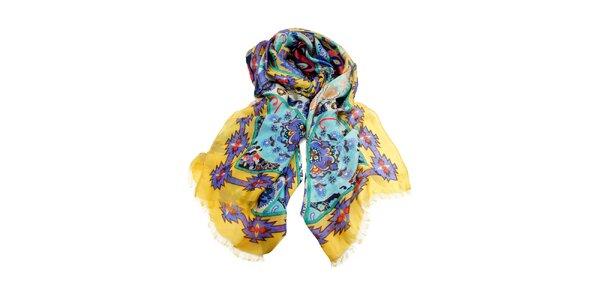 Dámský šátek s pestrým vzorem Invuu London
