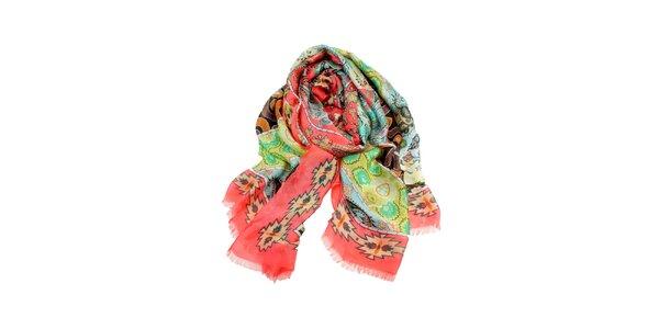 Dámský pestrý šátek Invuu London
