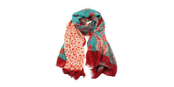 Dámský šátek v mátové barvě Invuu London 27006bbde6