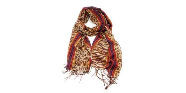 Dámský šátek s třásněmi Invuu London