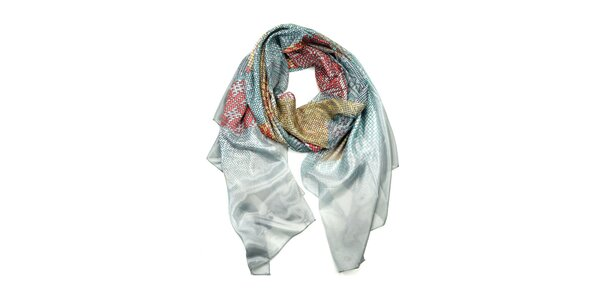 Dámský šedý šátek Invuu London