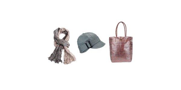 Dámský set - šátek, čepice, taška Invuu London