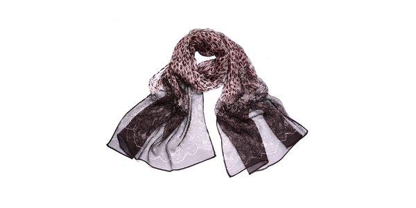 Dámský šátek s leopardím potiskem Giancarlo Bassi