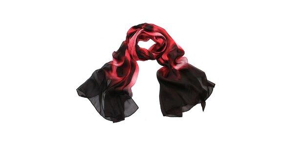 Dámský červeno-černý šátek Giancarlo Bassi
