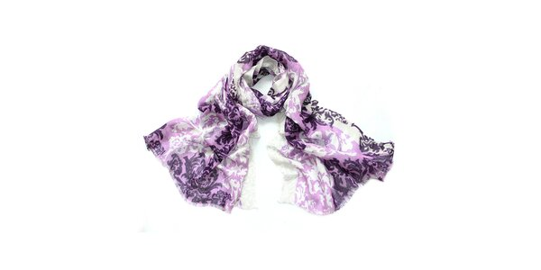 Dámský dvoubarevný šátek se vzorem Giancarlo Bassi