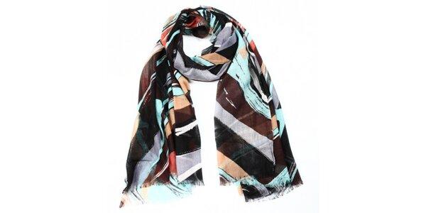 Dámský šátek s vícebarevným vzorem Giancarlo Bassi