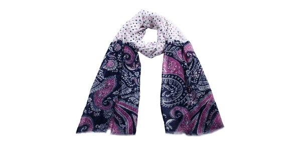 Dámský šátek s barevným vzorem a puntíky Giancarlo Bassi