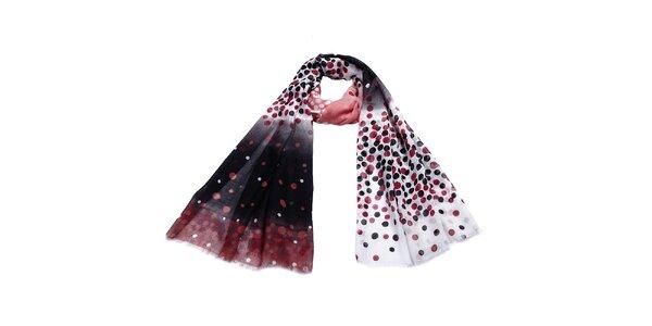 Dámský barevně puntíkovaný šátek Giancarlo Bassi