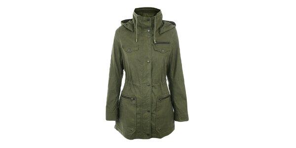 Dámský olivový krátký kabát Halifax