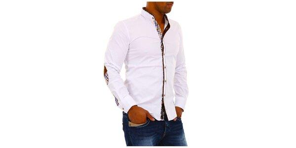 Pánská bílá košile se stojáčkem Carisma