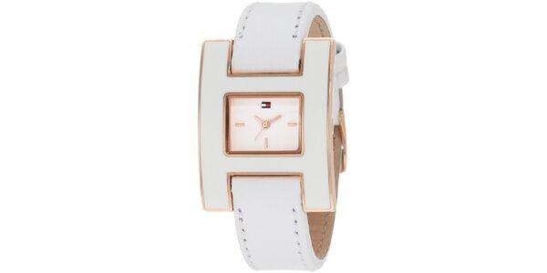 Dámské designové bílé hodinky Tommy Hilfiger