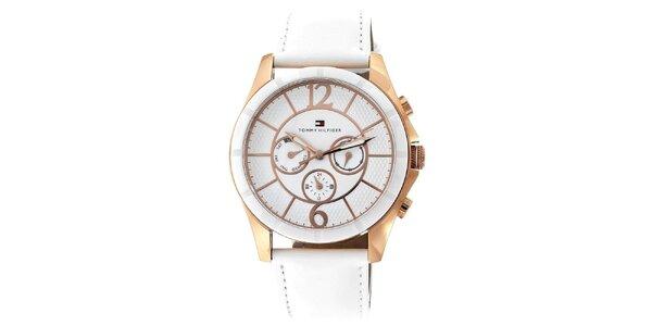 Dámské elegantní keramické hodinky s koženým řemínkem Tommy Hilfiger