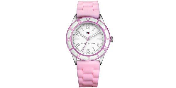 Dámské růžové hodinky Tommy Hilfiger