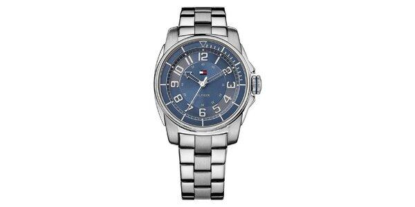 Dámské ocelové hodinky s modrým ciferníkem Tommy Hilfiger