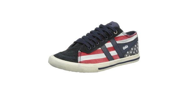 Dámské tenisky s motivem americké vlajky Gola