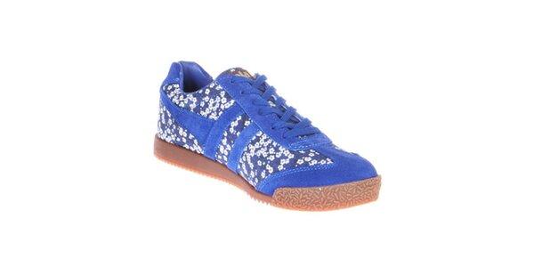 Dámské modré tenisky s květinovým potiskem Gola