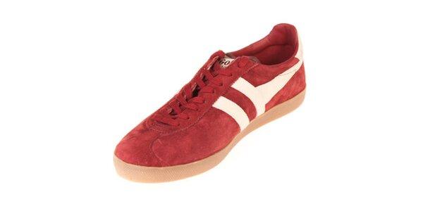 Pánské kožené červené tenisky Gola