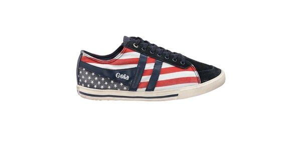 Pánské tenisky s americkou vlajkou Gola