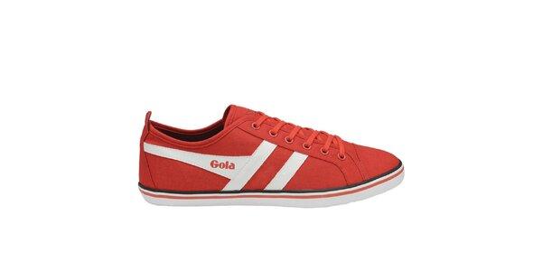 Pánské červené plátěné tenisky Gola