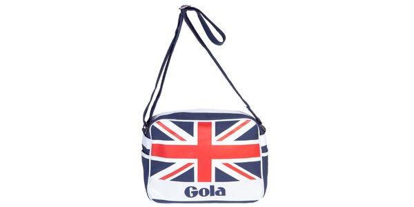 Retro taška s nápisem a vlajkou Gola