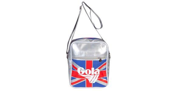 Retro menší stříbrná taška s vlajkou Gola