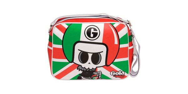 Pestrobarevná kabelka s postavičkou Gola