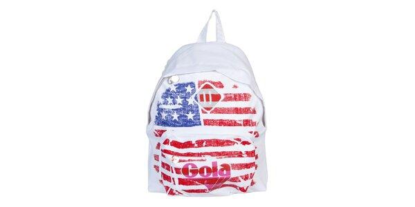 Bílý batoh s vlajkou Gola