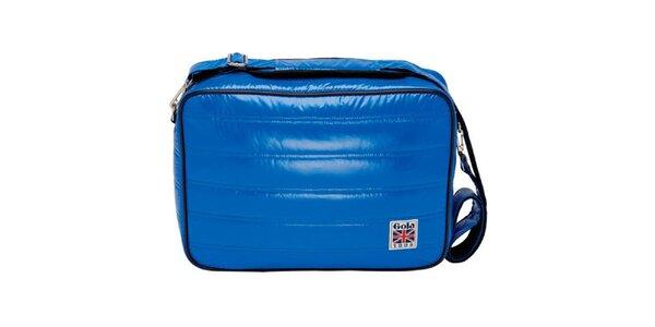 Modrá lesklá taška přes rameno Gola