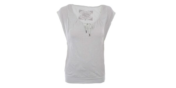 Dámské bílé tričko s mašličkou Timeout