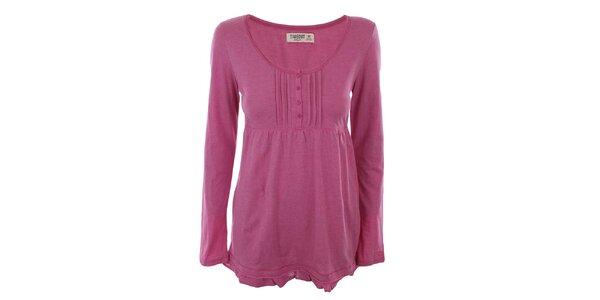Dámské růžové tričko s dlouhým rukávem Timeout