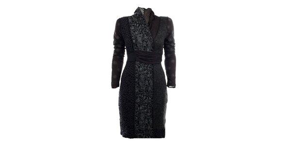 Dámské šedé podzimní šaty s potiskem Angels Never Die