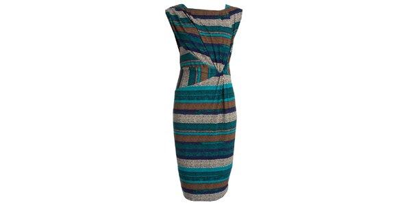 Dámské barevně pruhované šaty JDC London