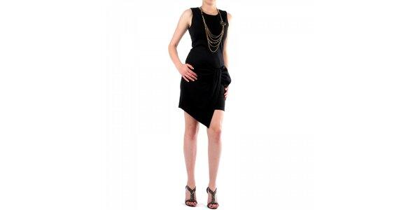 Dámské černé šaty Fifilles de Paris s velkou mašlí