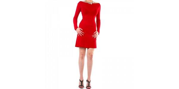 Dámské červené šaty Fifilles de Paris s krajkou