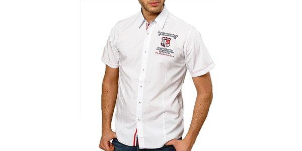 Pánská bílá košile s krátkým rukávem Northern rebel