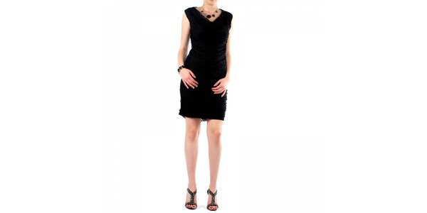 Dámské černé krajkové šaty Fifilles de Paris