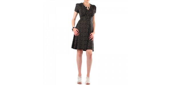Dámské černé puntíkované šaty Fifilles
