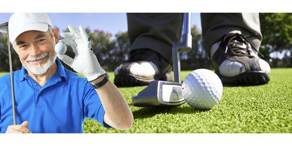 Celodenní hra golfu pro 1 nebo 2 osoby