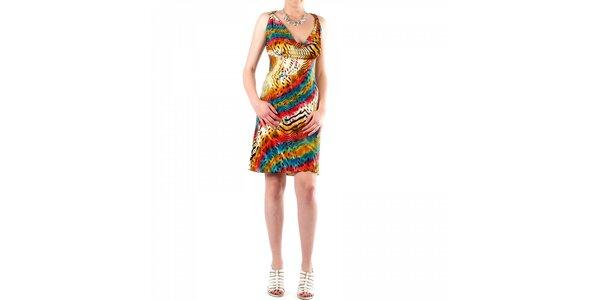 Dámské pestrobarevné šaty Fifilles se Paris se zvířecím vzorem
