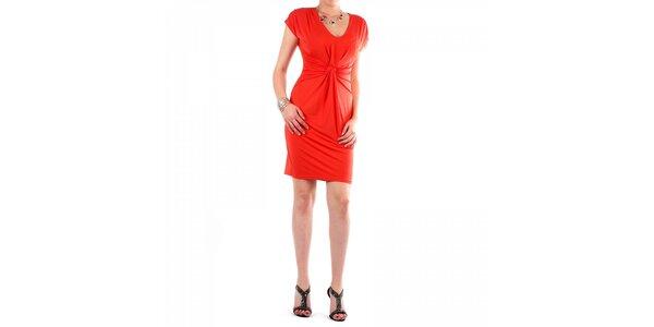 Dámské sytě oranžové šaty Fifilles se Paris