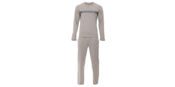 Šedé pánské pyžamo značky Calvin Klein