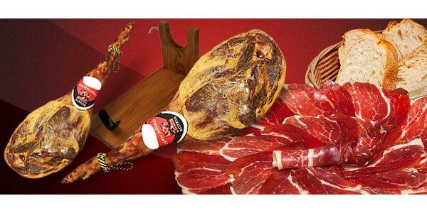 4–4,5 kg španělské sušené šunky v dárkové sadě